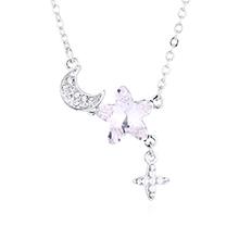 奥地利水晶项链—浪漫星月(白色)