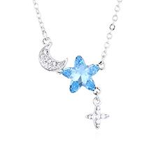 水晶项链—浪漫星月(海蓝)