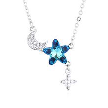 水晶项链—浪漫星月(蓝光)