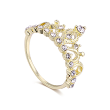 韩版个性皇冠戒指