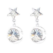 奥地利水晶耳环--星月传奇(白色)
