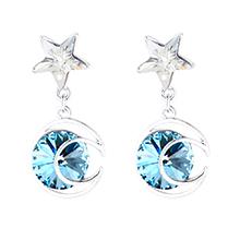 奥地利水晶耳环--星月传奇(海蓝)