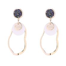 进口水晶耳环--满天星辰(14K金)