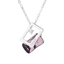 奥地利水晶项链--思念(浅紫)