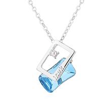 奥地利水晶项链--思念(海蓝)