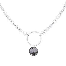 奥地利水晶项链--圆环(白金+银色魅影)