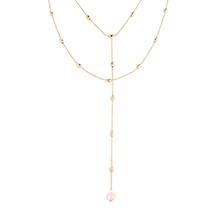 奥地利水晶项链--水中月(14K金+彩白)