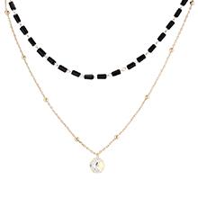 奥地利水晶项链--贵族女皇(14K金+彩白)