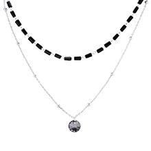 奥地利水晶项链--贵族女皇(白金+银色魅影)