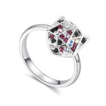 进口水晶戒指--铠甲勇士(紫色)