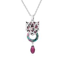 奥地利水晶项链--铠甲勇士(紫色)