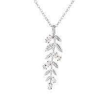 奥地利水晶项链--香草树叶(白金)