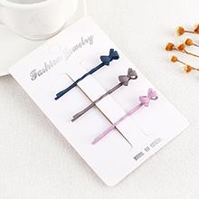 韩版时尚甜美蝴蝶结发夹(颜色随机)