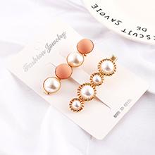 韩版复古磨砂珍珠发夹