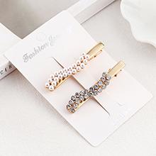 韩版复古时尚水钻珍珠发夹