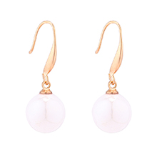 韩版时尚小圆球珍珠耳环(白色)