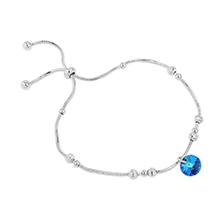 奥地利水晶手链--摇光(白金+蓝光)