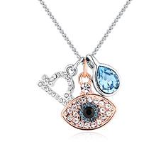 奥地利水晶十二星座项链--天秤座(海蓝)