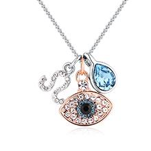 奥地利水晶十二星座项链--狮子座(海蓝)