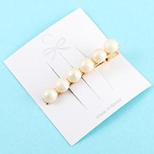 韩版简约清新复古珍珠发夹(白色)