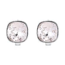 奥地利水晶耳环--方晶(白色)