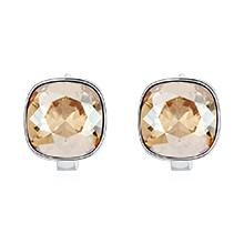 奥地利水晶耳环--方晶(金色魅影)