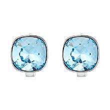 奥地利水晶耳环--方晶(海蓝)