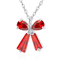 AAA级锆石项链--礼结(红色)