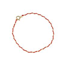 镀真金手链--缠绵(红色小版)