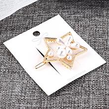 欧美复古风简约时尚星星花朵镂空发夹套装