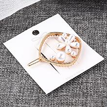 欧美复古风简约时尚方形花朵镂空发夹套装
