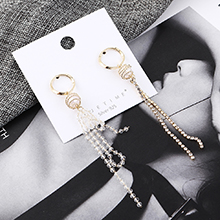 韩版气质时尚百搭镀真金小圈珍珠镂空S925银针(14K金)