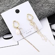韩版时尚气质大牌镀真金珍珠流苏S925银针(14K金)