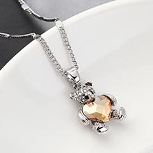 奥地利水晶项链--熊抱心(金色魅影)