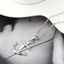 AAA级锆石项链--锚钩印记(白金)
