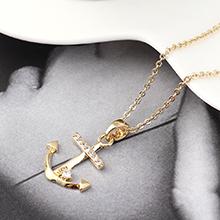 AAA级锆石项链--锚钩印记(14K金)