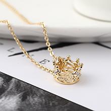 AAA级锆石项链--皇冠(14K金)