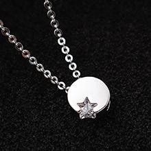 AAA级锆石项链--星月(白金)