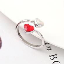 奥地利水晶戒指--心心之恋(浅红)