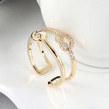 AAA级锆石戒指--浪漫之心(14K金)