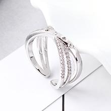 AAA级锆石戒指--缠绕(白金)