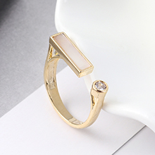AAA级锆石戒指--反镜之光(14K金)