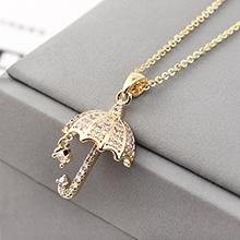 AAA级锆石项链--为你撑伞(14K金)