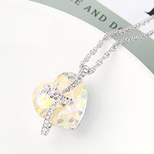 奥地利水晶项链--爱是永恒(彩白)