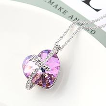 奥地利水晶项链--爱是永恒(紫光)