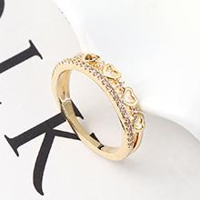 AAA级锆石戒指--心中是你(14K金)