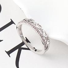 AAA级锆石戒指--心中是你(白金)