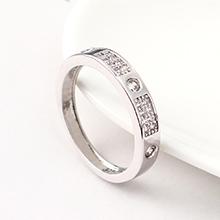 AAA级锆石戒指--爱的痕迹(白金)
