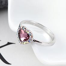 奥地利水晶戒指--爱是你我(古典粉红)