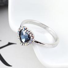 奥地利水晶戒指--爱是你我(牛仔蓝)